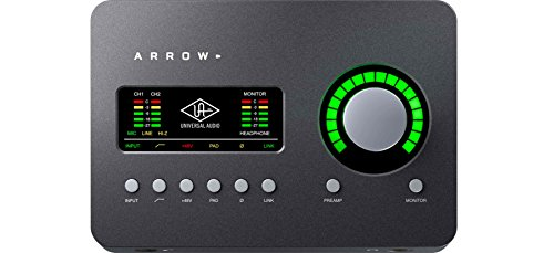 Universal Audio ARROW Desktop 2x4 Thunderbolt 3 Audio Interface with Real-time UAD-2 SOLO Core Processing for Mac & Windows, Gray