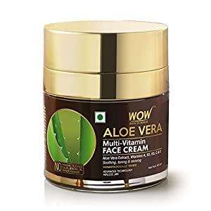 WOW Skin Science Aloe Vera Multi-Vitamin Face Cream – Light Quick Absorbing – For Normal to Oily Skin – No Parabens…