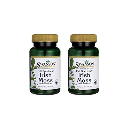 Swanson Full Spectrum Irish Moss 400 mg 60 Caps 2 Pack