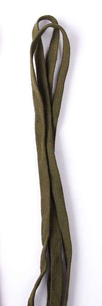 Dark Khaki 3//8 Wide Cotton Flat Draw Cord Drawstrings Handles Lace Trim String 10 Yards
