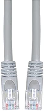 Snagless//Molded Boot Cat5e Gray Ethernet Crossover Cable 5 Foot