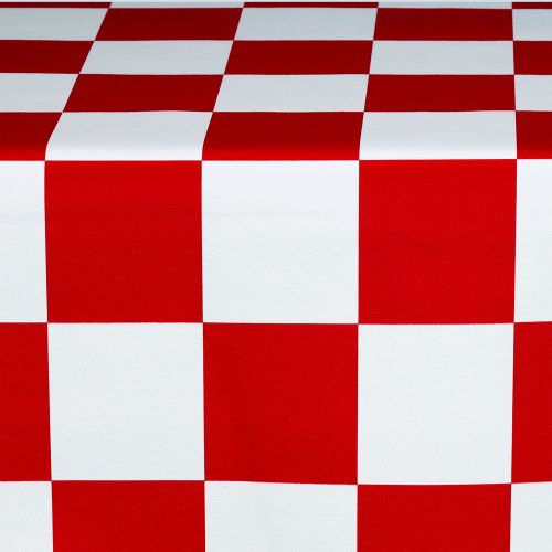 Marko 5741154L193 Fashion Series Red/White Checkered Flag Tablecloth ()