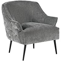 Elle Decor UPH10032B Quincy Accent Chair, Gray