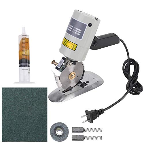 Electric Cloth Cutter, Hand Held Fabric Slitting Machine with 3.54inch for Clothing, Leather Goods, Textiles, Rubber Products, Paper Industry(US Plug)