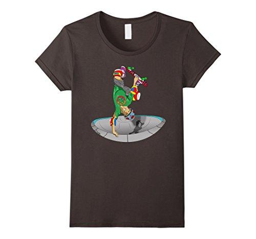 Womens Skateboard T-Shirt Rad Invert Air Pool Skating Skateboarder Medium Asphalt