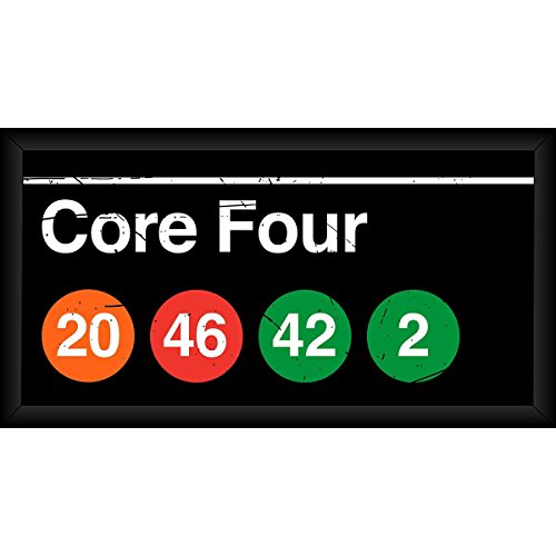 Core Four NYC Subway Station 10x20 Framed ()