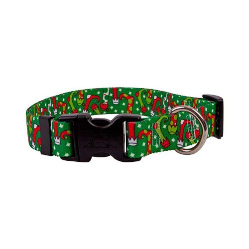 "Christmas Stockings Dog Collar - Size Medium 14"" to 20"" Long - Made In The USA"