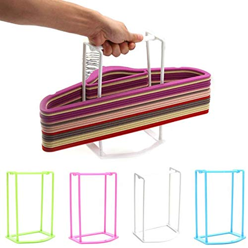 Elevin(TM)  Plastic Hangers Creative Finishing Frame Hanger Companion Storage Rack BU -