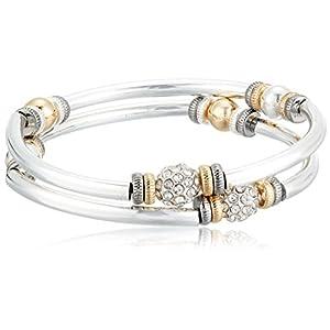 Best Epic Trends 41Y3xOaYRZL._SS300_ NINE WEST Women's Tri Tone Bangle Bracelet