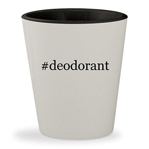 English Deodorant Leather Stick (#deodorant - Hashtag White Outer & Black Inner Ceramic 1.5oz Shot Glass)