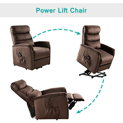 Giantex Power Lift Chair Recliner For Elderly Soft And