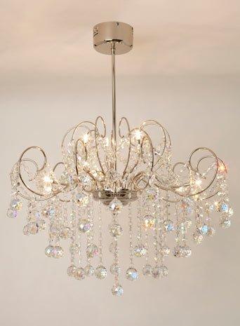 Bhs clear beni chandelier amazon kitchen home bhs clear beni chandelier aloadofball Images