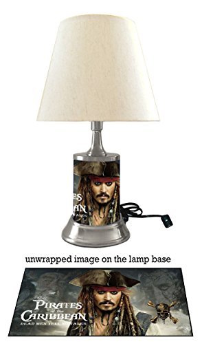 Pirates Of Caribbean 5 Lamp with shade, Dead Men Tell No Tales Johnny - Shades Depp Johnny