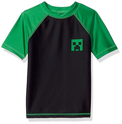 Dreamwave Big Minecraft Rashguard - Playera para niño, Midnight, 5/6