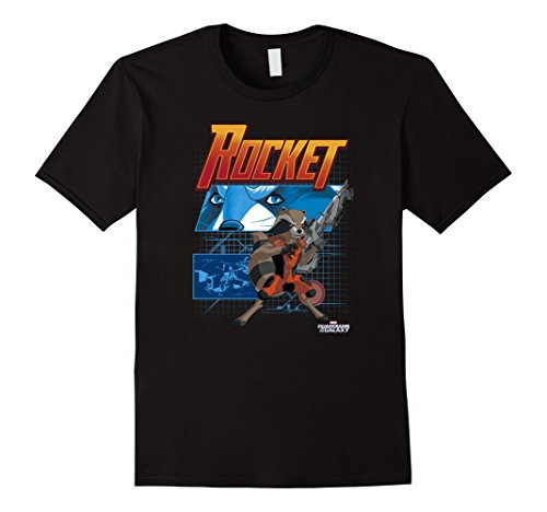 Mens Marvel Rocket Guardians of the Galaxy Schematic T-Sh...