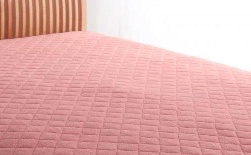 綿100%で快適!敷パッド 同色2枚セット (キング) ローズピンク B071V9WBBF キング|ローズピンク ローズピンク キング