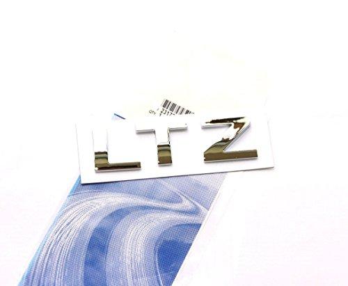 Yoaoo® 1x OEM Chrome LTZ Letter Nameplate Emblem Badge 2008-2015 Chevrolet Cruze Silverado Yukon (Chrome Chevrolet Emblem)