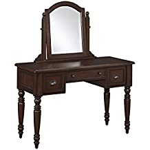 Home Styles 5522-70 Country Comfort Vanity and Mirror, Aged Bourbon Finish