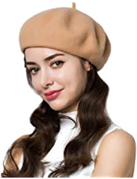 b1eb3504a6daf 95% Wool Beret Artist Hat French Hat Casual Solid Color Spring Winter Hat  for Women