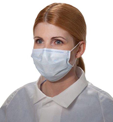 Halyard Health 00148 Fluidshield Fog-Free Procedure Mask, Level 3, Blue (10 Boxes of 40, 400 Total)