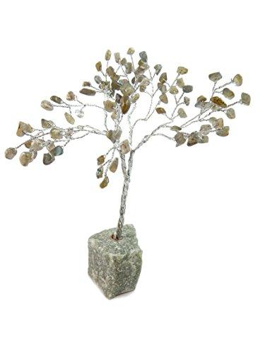 Natural Labradorite Crystal - Beverly Oaks Healing Crystals Bonsai Tree ~All Natural Gemstone Tree ~ Money Tree Featuring Healing Stones (Labradorite)