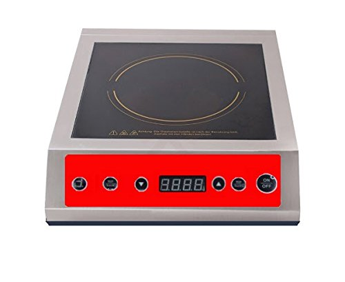 CookMART Induction Range, CounterTop Cooker, Quick Fast Heat-up, Stainless Steel Frame, NO FLAME 120V, 1800W, 208/240V, 3500W (120V, 1800W) by CookMART