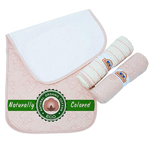 (BlueSnail Organic Cotton Waterproof Changing Pad Liners 3PK Super Absorbent and Ultra Soft)