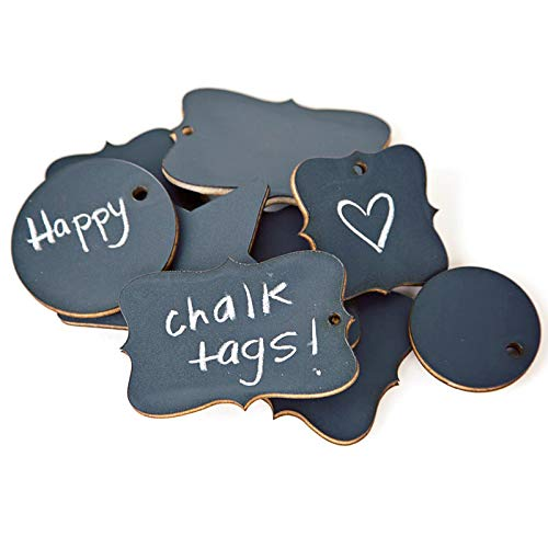 ADORNit DIY Craft Chalkboard Tags - Pack of 9