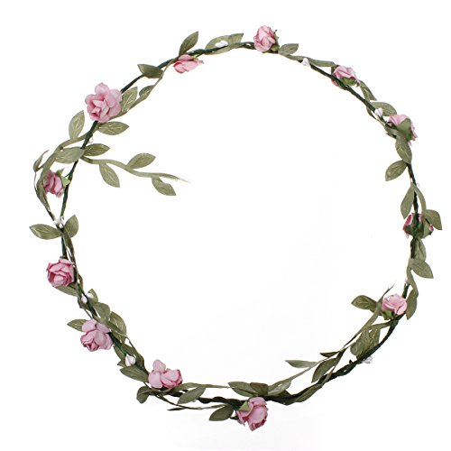 kingso-rose-flowers-branch-festival-wedding-garland-head-wreath-crown-floral-tool-adult-size-pink