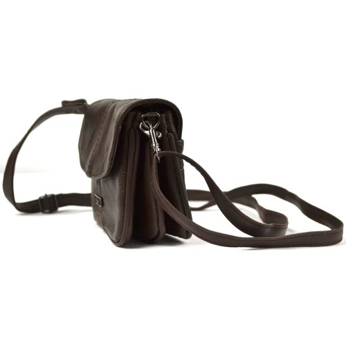 SNUGRUGS - Borsetta in pelle da donna con tracolla, leggera, colore: Nero / Beige / Marrone scuro / Fulvo chiaro / Marrone chiaro Marrone (Dark Brown)