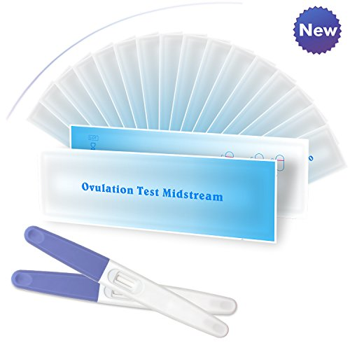 20 Ovulation (LH) Tests Pen - Midstream Test Sticks, Clear & 99% Accurate by Sinsun