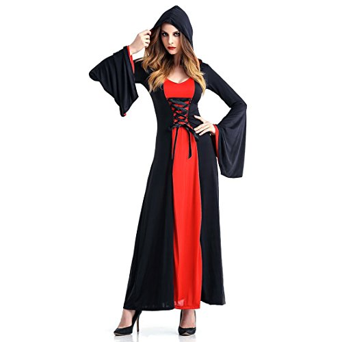 Slocyclub Women's Medieval Hooded Robe Vampire Costume (1950s Gangster Costumes)