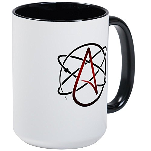 CafePress - Modern Atheist Atomic Color Mug - Coffee Mug, Large 15 oz. White Coffee Cup