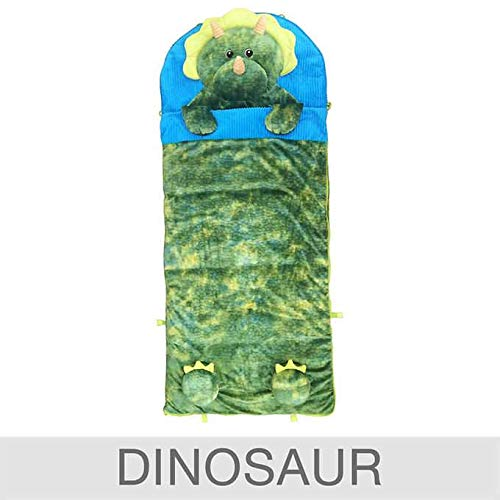 Hugfun Animal Slumber Bag (Green Dinosaur) ()