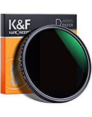 K&F Concept 62mm Variable Neutral Density ND8-ND2000 ND Filter for Camera Lenses with Multi-Resistant Coating, Waterproof