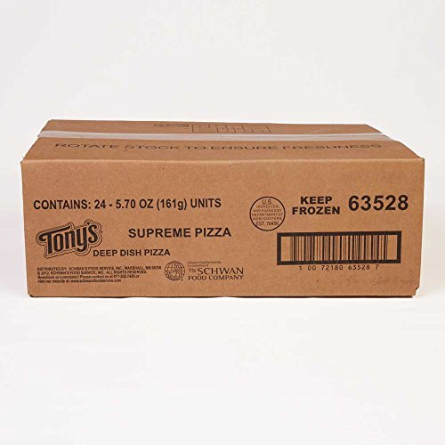 Schwans Tonys Supreme Par Baked Pizza, 6.5 Ounce -- 24 per case.