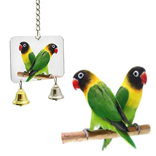 XOBULLO 5 Style Pet Toy Mirror Fun Toy for Cockatiel Parrots Small Birds Parrot Toys Pet Parrots Climb Accessories,E ()