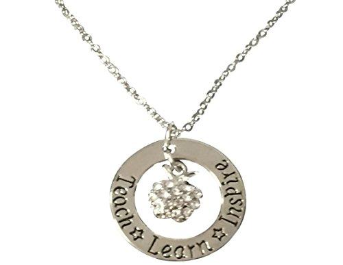 Teacher Necklace- Teacher Jewelry, Teacher Gift, Show Your Teacher Appreciation Thank You Gifts for Teachers