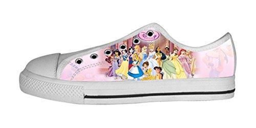 RenBen Non-slip plimsolls Custom Disney Snow White Women Low-top Canvas Shoes Footwear Sneakers Flat Shoes (Disney White Perfume)