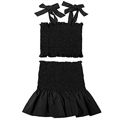 Women's Bohemian Cami Crop Top with High Waist Bodycon Skirt Two Piece Outfit Dress Suit Set: Clothing