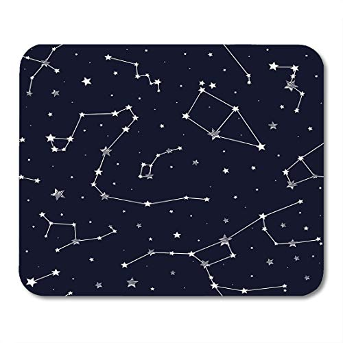 Emvency Mouse Pads Pattern of Constellations Galaxy Star Zodiac Abstract Astrology Mouse pad 9.5