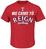 VF Texas Rangers MLB Mens Majestic 2016 We Came To Reign Shirt Red Big & Tall Sizes
