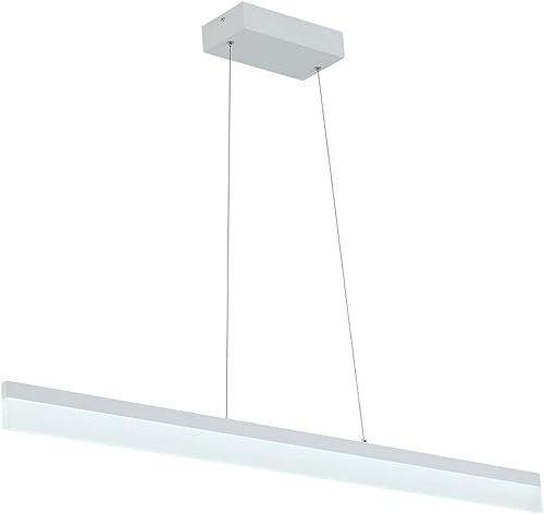 LED Linear Pendant Light Flush Mount Tube Modern Chandelier