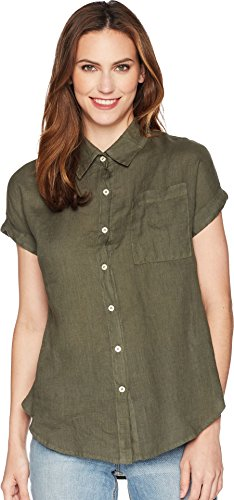 Allen Allen Women's Short Sleeve Camp Shirt Cilantro (Over Short Sleeve Camp Shirt)
