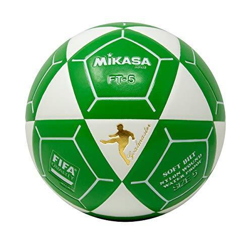 (Mikasa FT5 Goal Master Soccer Ball, White/Green, Size 5)
