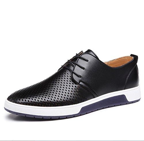 SHANGWU 4 sandalias de caminar sandalias de hombre sandalias de hombre zapatos de hombre casual de hombre zapatos de cuero huecos de hombresZHANGM (Color : Black, Size : 41)