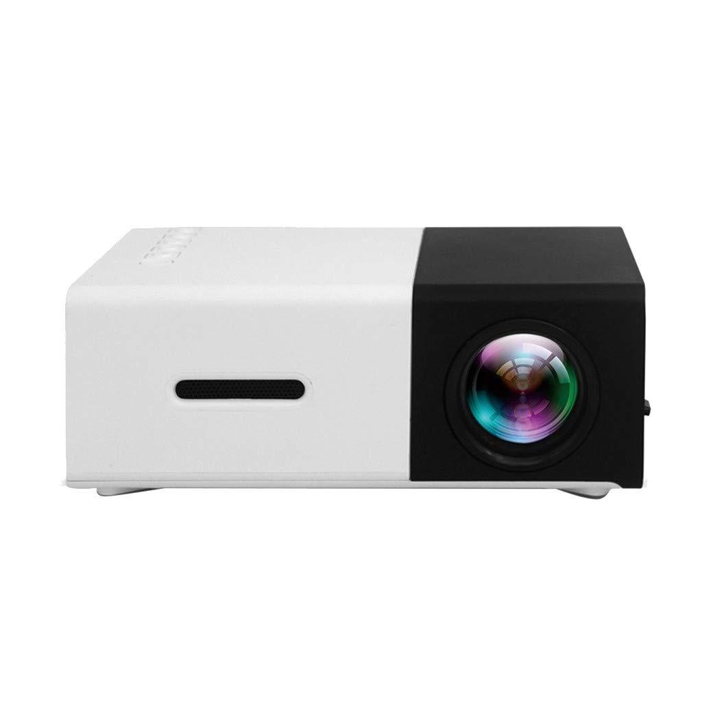 WONdere YG300 1080P Home Theater Cinema USB HDMI AV SD Mini Portable HD LED Projector (Black)