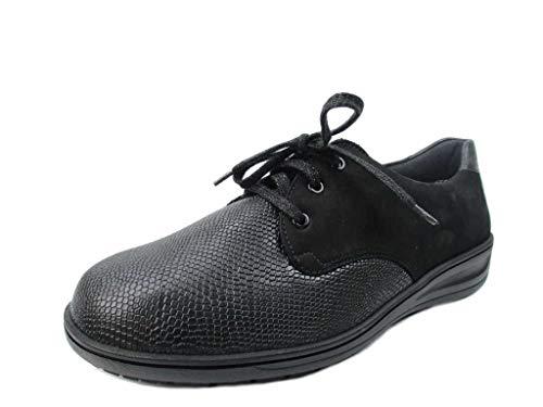 donna Solidus Solidus Scarpe stringate Scarpe nere stringate Scarpe nere donna T5S0wq5