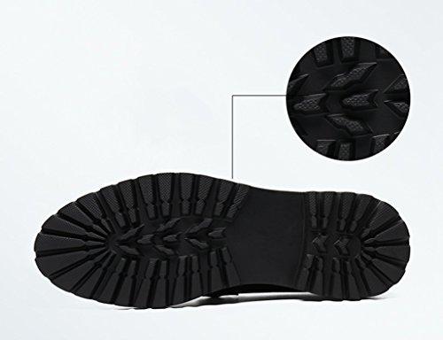 HWF Scarpe Uomo in Pelle Pattini del vestito da sposa scarpe di cuoio di affari Abiti formali stile britannico degli uomini (Colore : Nero, dimensioni : EU38/UK5.5) Nero