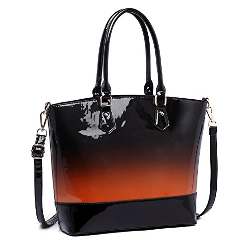Miss Lulu, Borsa a mano donna marrone Brown